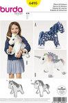 Burda 6495. Horse and unicorn.