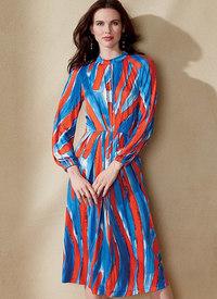 Vogue 1558. Raglan-Sleeve, Waist-Pleated Dress - Rachel Comey - Rachel Comey.
