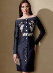 Off-The-Shoulder Button-Front Dress - Guy Laroche - Guy Laroche - Guy Laroche
