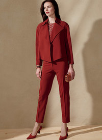 Vogue 1560. Open, Loose Jacket and Slim Pants, Anne Klein.