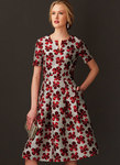 Fit-And-Flare Dresses with Waistband and Pockets