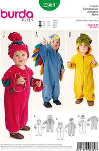 Bird, Pineapple, Strawberry   Overalls, Hood, Hat. Burda 2369.