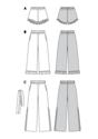 Trousers, pants, shorts, elastic waist, hem frills
