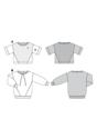 Sweatshirt , T-Line, with Interesting Seam Lines