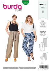 Trousers, pants, straight leg,  patch pockets. Burda 6218.