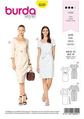 Dress, Shift Dress, Square Neckline . Burda 6220.
