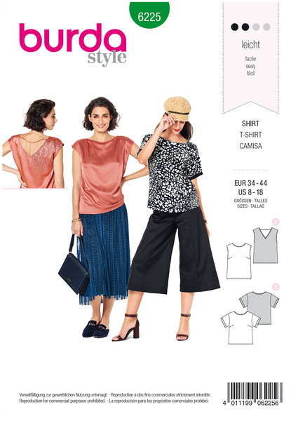 Blouse, Top, Straight Cut