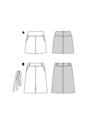 Skirt with Yoke,  Hip Yoke Pockets