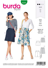 Skirt with Yoke,  Hip Yoke Pockets. Burda 6235.