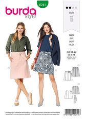 Skirt, Flared Skirt,  without Waistband, with Belt. Burda 6241.
