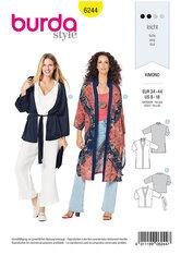 Kimono, Coat, Jacket. Burda 6244.