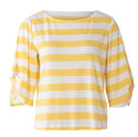 Top, Sweatshirt,  Round Neckline,  Sleeves with a Twist