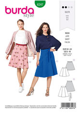 Skirt with Pleats– Flared Shape. Burda 6247.