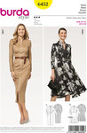 Burda 6452. Dress with flare and dresssuit with front zipper.