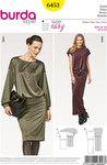 Burda 6453. Loose classic dress short and long.