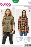 Burda 6457. Blouse-shirt with buttoned front.