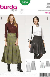 Skirt with pleats. Burda 6466.