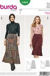 Burda 6468. Skirt with waistband and width.