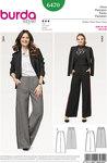 Burda 6470. Classic dress pants with width.