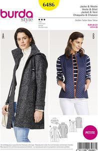 Jacket and vest. Burda 6486.