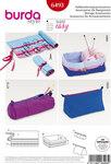 Burda 6493. Pencilcase, sewing accessory holder, knitting storage.