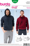 Burda 6718. Men´s Pullover, Hoodie, Raglan Sleeves.