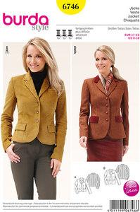 Jacket, Blazer Jacket, Classic Form. Burda 6746.