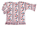 Top with Integral Sleeves, Tunic Top, Frills