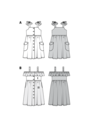Chic dresses are a dream for hot weather – buttoned down the front and with a gathered skirt. Choose patch pockets or pockets in the seams. The elastic at the neckline of dress view B allows it to be pulled down over the shoulders for a cute styling varia.