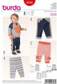 Pants, Elastic Waist Pants, Jogging Pants. Burda 9398.