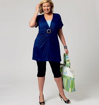 Cover-Up, Top, Swimdress, Swimsuit, Skirt and Briefs. Butterick 5795.