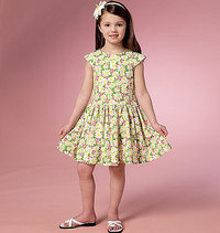 Girls Dress. Butterick 6201.