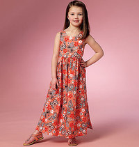 Girls Dress and Culottes. Butterick 6202.