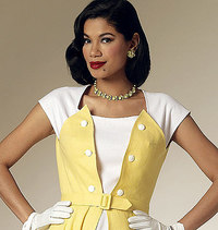 Dress and Belt. Butterick 6211.