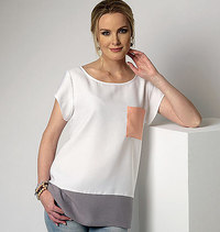 Top with round neck. Butterick 6214.