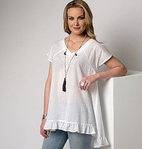 Top with width. Butterick 6215.