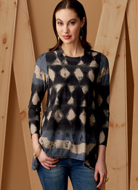 Vogue 9272. Knit Tunics with Godets, Marcy Tilton.
