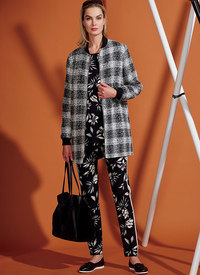 Lined Zip Jacket, Knit Tunic, Leggings, and Pants. Vogue 9275.