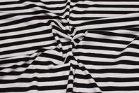 Across-striped cotton-jersey in black and white