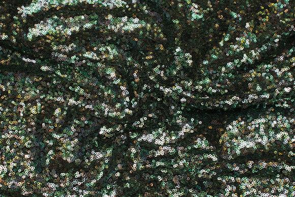 Beautiful sequin-fabric in green nuances