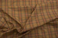 Checkered lining in classic brown