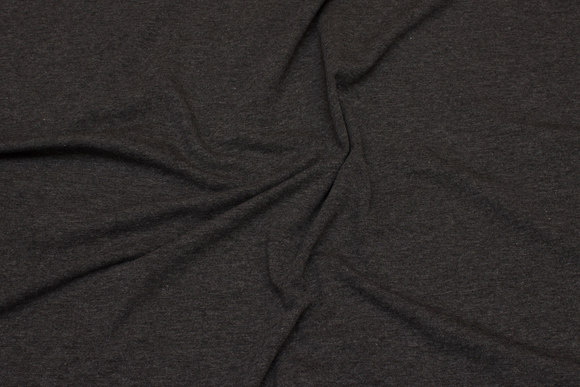 Cotton-jersey in speckled charcoal