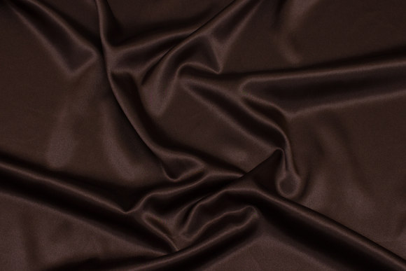 Dark brown stretch-satin