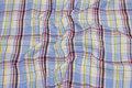 Large-checks, crinkle shirt-fabric.