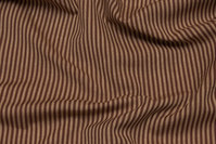 Narrow-striped cotton in beige and light brown