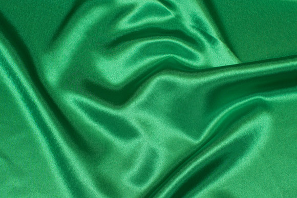 Strong green crepe satin