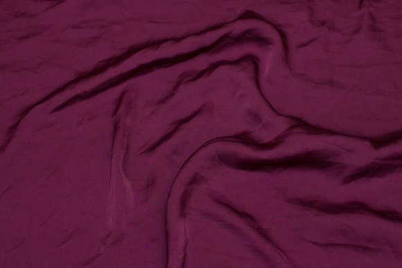 Thin, crinkle micro-satin in red-purple