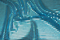Turqoise sequin-fabric
