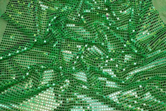 Green glimmer-fabric in gorgeous quality