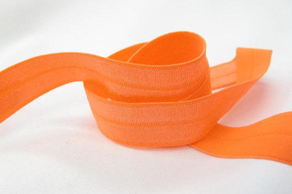 Elastic bias drape in orange 2cm